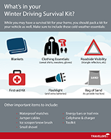 Travelers Winter Driving Survival Kit