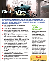 Acuity Clothes Dryer Safety