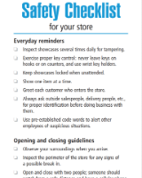 Store safety checklist
